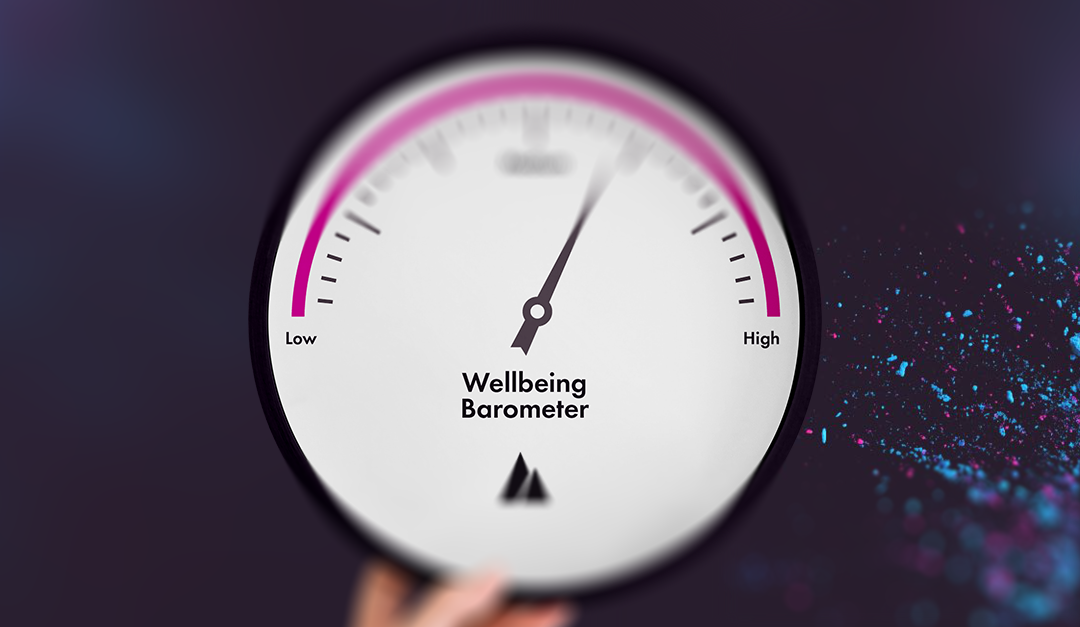 UK Wellbeing barometer showing search levels for wellbeing queries